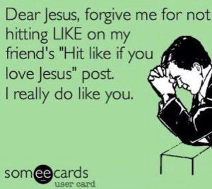 like jesus on facebook