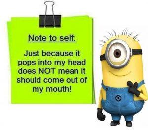 image of a minion quote