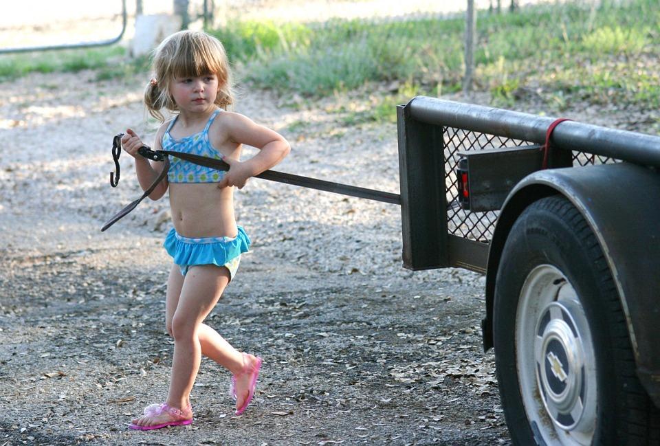 little girl in bikini