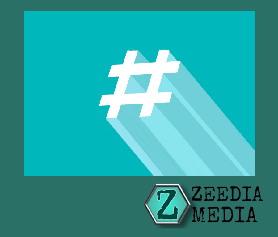 Instagram Hashtags for Marketing. Zeedia Media logo with Hashtag symbol