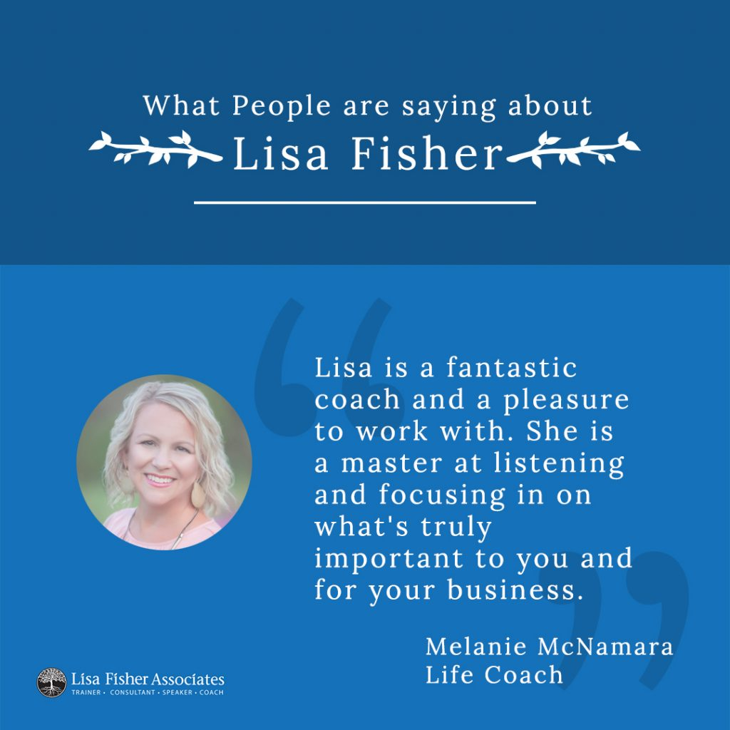 Testimonials for Marketing showing a testimonial graphic for Lisa Fisher Associates.